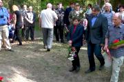 Uctění památky padlých letců ve Velké Polomi