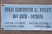 Ostrava - Odkaz komunistům v 21, století